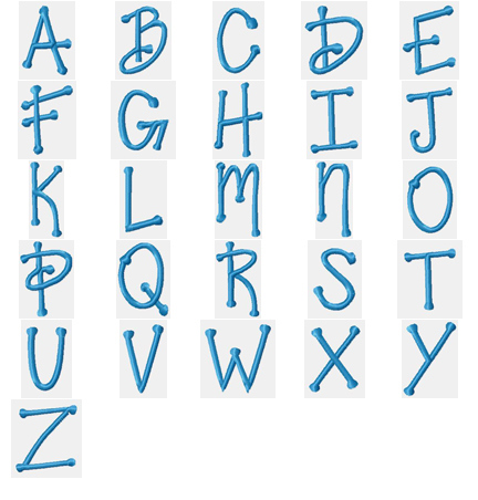 This Set Includes Uppercase And Lowercase Letters As Well Numerals Accents All Designs Fit The Standard 4x4 Hoop Measure