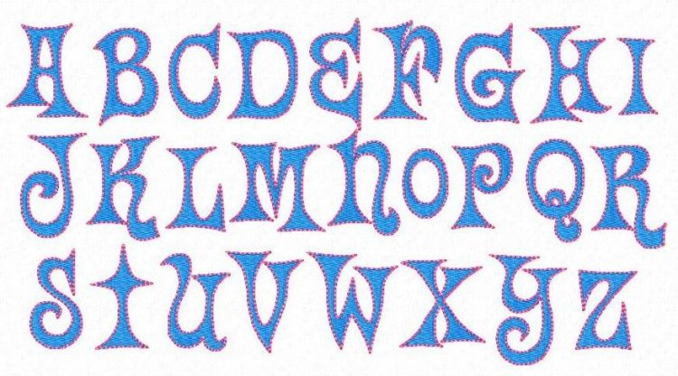 Fun Funky Alphabet Fancy Fonts Embroidery Home Of The ORIGINAL