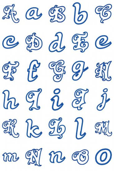 Divine Applique Alphabet : Fancy Fonts Embroidery, Home of the ...