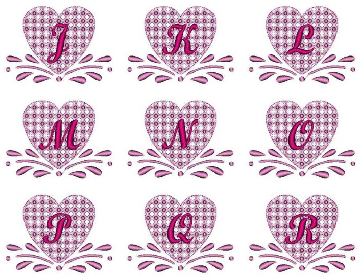 Amish Hearts Monogram - Click Image to Close