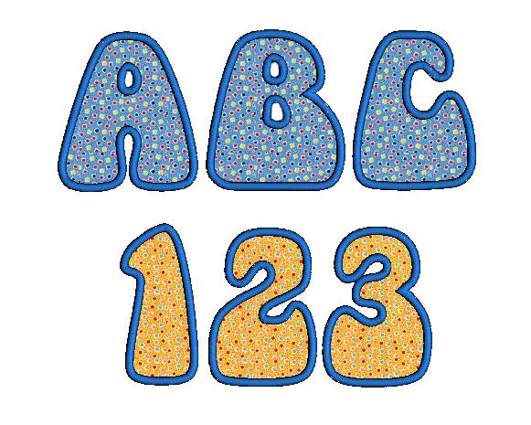 Funky Bold Applique Alphabet