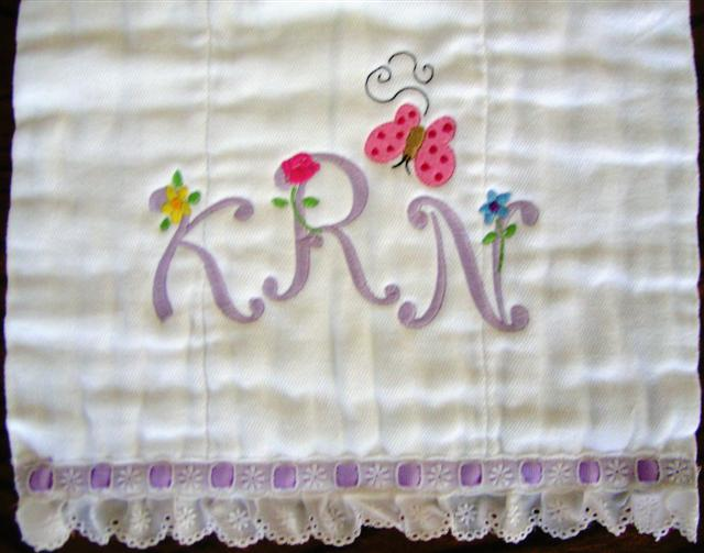 "Monogram Set #56 ""Flutters & Flowers"" - Click Image to Close"
