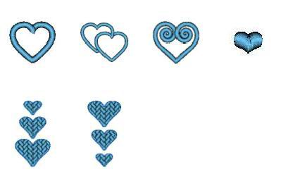 "Monogram Set #36 ""Hearts Galore"" - Click Image to Close"
