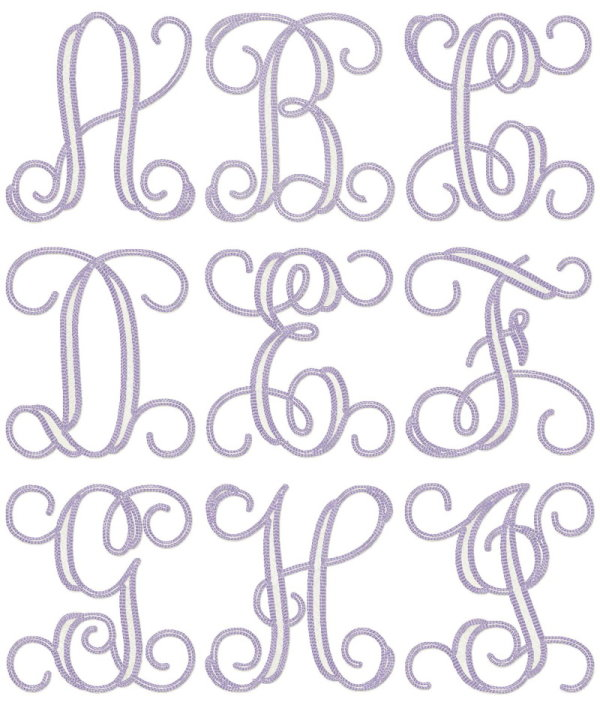 vintage embroidery letters