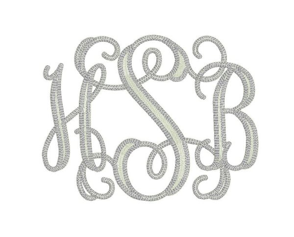 3 initial monogram 7 vintage entwined 19 99 fancy fonts